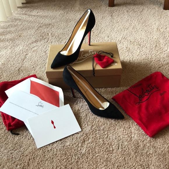 b5670e37fe5e Christian Louboutin Shoes - Christian Louboutin Decollete 554 Suede size  38.5